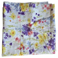 Vintage Floral Cotton Everfast Sewing Fabric 4 Yards