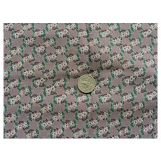 Vintage Polyester Crepe Floral Sewing Fabric 3 Yards