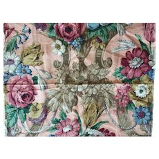 Vintage Floral Linen Fabric Sample By Sanderson Indecolor Fabrics