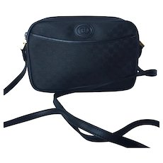 Vintage 1980's Genuine Black Gucci Shoulder Bag Purse