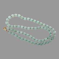 REDUCED Vintage Green Quartz Bead Necklace