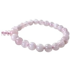 Pink Quartz Beaded Stretch Bracelet