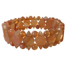 Carnelian Beaded Stretch Bracelet