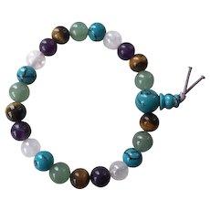 Multi-Gemstone Beaded Stretch Bracelet
