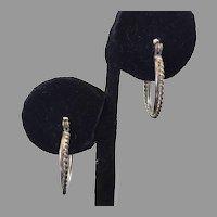 Sterling Braid Hoop Earrings