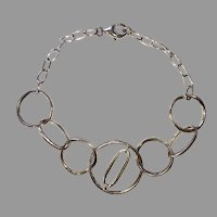 REDUCED Sterling Silver Open Circle Link Bracelet
