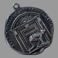 REDUCED 1915 Sterling Track & Field Medal Beloit College