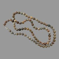 REDUCED Vintage Jasper Beaded Necklace
