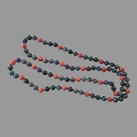 REDUCED Dyed Jasper Beaded Necklace Hand Knotted