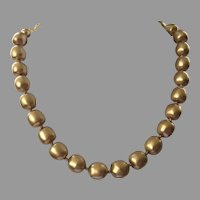 Vintage Carolee Faux Gold Pearl Necklace