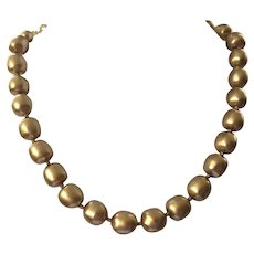 Vintage Carolee Faux Gold Pearl Necklace