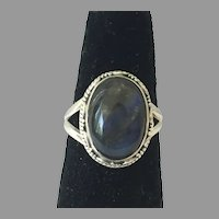 REDUCED Sterling Labradorite Cabochon Ring