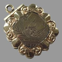 Antique Victorian Aesthetic Gold-Filled Etched Scene Locket