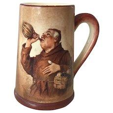 Miniature German Beer Mug Stein With Monk Drinking