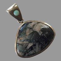 Sterling Jasper & Opal Pendant