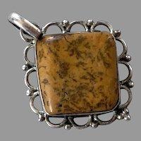 Sterling & Camel Jasper Pendant