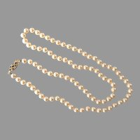 Vintage Single Strand Faux Cream Pearl Necklace