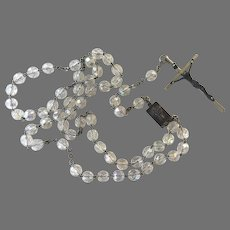 Italian Clear Faceted Crystal Rosary