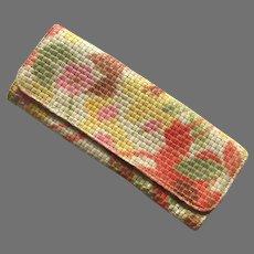 Vintage Maurizio Taiuti Italian Hand Painted Woven Clutch Purse