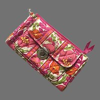 Vera Bradley Fabric Wallet With Wrist Strap