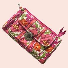 Vera Bradley Fabric Wallet With Wrist Strap