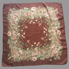 Vintage Liberty Of London Floral Silk Scarf