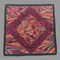 Italian Silk Missoni Small Square Colorful Scarf