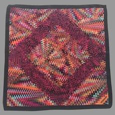 Italian Silk Missoni Small Square Colorful Scarf
