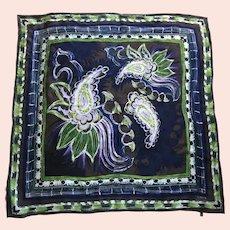 Italian Laura Biagiotti Jacquard Silk Scarf Designer