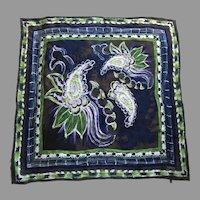 Laura Biagiotti Italian Jacquard Silk Scarf Designer