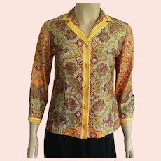 Vintage Vera Neumann Silk Blouse 1960's 70's
