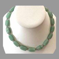 REDUCED Vintage Aventurine Gemstone Beaded Necklace