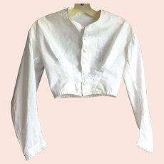 Victorian White Cotton Blouse / Bodice Small Size