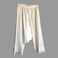 Vintage Victorian White Cotton Bloomers Pantaloons