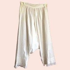 Vintage Victorian White Cotton Bloomers Pantaloons