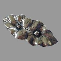 Art Nouveau Sterling Leaf Pin