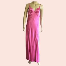 1980's Frederick's Of Hollywood Shocking Pink Nightgown Never Worn XL