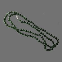 Spinach Jade Hand Knotted Beaded Necklace