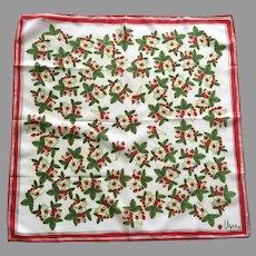 Vintage Vera Nuemann Scarf Strawberry Pattern