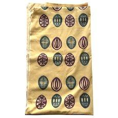 Vintage 1954 Mid-Century Silk Screen Fabric By Dorothy Harkins