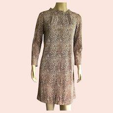Vintage 1960's 70's Leopard Print Dress