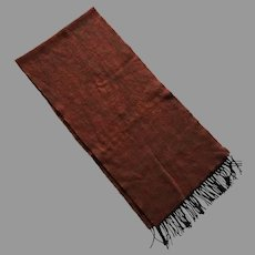 Vintage Acrylic Scarf With Fringe Made In France