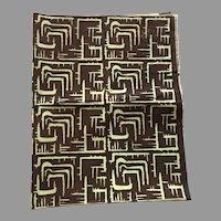 Vintage 1953 Mid-Century Silk Screen Print Fabric By Dorothy Harkins