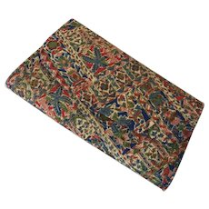 Vintage 1960's JR Julius Resnick Fabric Covered Clutch