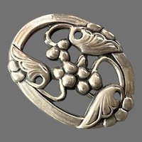 Genuine Norseland Sterling Floral Pin 1940's