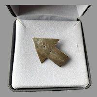 Modernist Sterling Arrow Pin