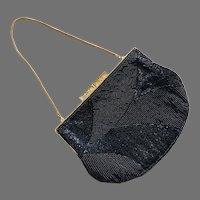 REDUCED Vintage 1960's Walborg Black Beaded Purse