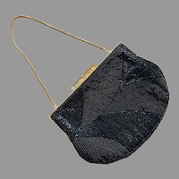 Vintage 1960's Walborg Black Beaded Purse