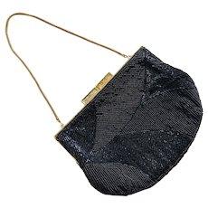 Vintage 1960's Walborg Black Beaded Purse