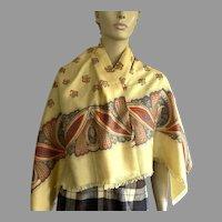 Vintage Silk Paisley Scarf / Muffler